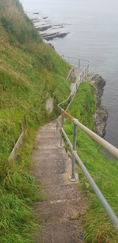 steps leading down to the sea in Thurso